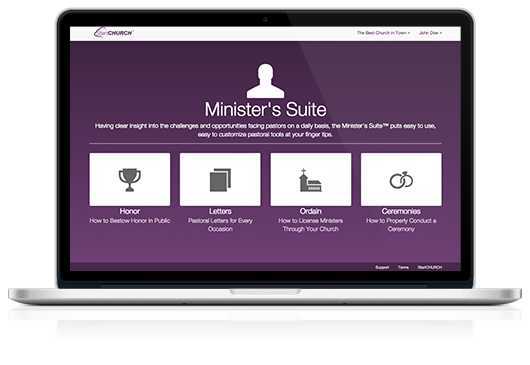 Minister's Suite on a Macbook